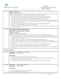 Sample Resume For Sap Mm Consultant by Sap Sd 3 Years