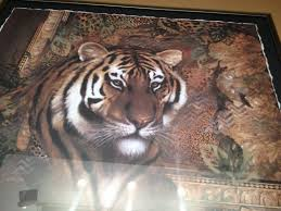 home interior tiger picture primitive country decor candles billy canvas pictures