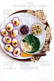 what goes on a seder plate for passover vegetarian passover seder plate with beet pickled deviled eggs