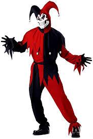 age 8 16 boys krazed jester costume mask halloween fancy dress evil jester joker red mens costume from express fancy dress