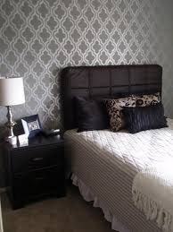 Bedroom Wall Paint Design Ideas Diy Stencil Master Bedroom Focal Wall In Progress Currently