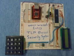ethernet controlled security system  hacked gadgets  diy tech blog with ahmad masri has used an inexpensive ethernet chip called the wiz to  create a simple but flexible ethernet based security system from hackedgadgetscom