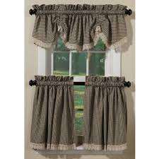 Black Check Curtains Crochet Check Country Style Curtains Collection Sturbridge