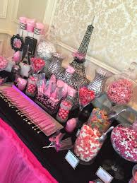 Barbie Themed Baby Shower by Paris Themed Candy Table We Made For A Sweet 16 At Meadow Wood
