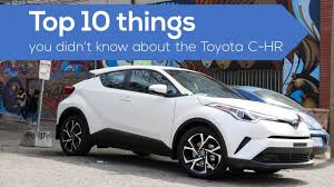the toyota top 10 things about the toyota chr crossover suv youtube