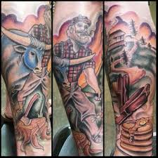 paul bunyan and other manly done by mike pace co owner of
