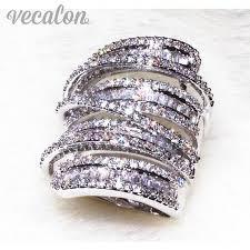 men big rings images Vecalon antique big ring women men jewelry 20ct aaaaa zircon cz jpg