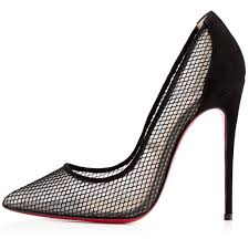 christian louboutin follies resille 120mm fishnet suede pointed