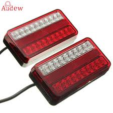 led lights for trucks and trailers 1 pair 20 led 12v tail light car truck trailer stop rear reverse