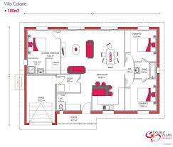 plan maison 100m2 3 chambres plan de maison de 100m2 avie home