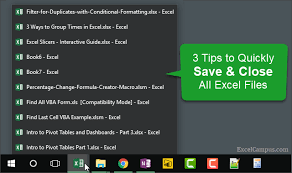 3 tips to save and close all open excel workbook files vba macro