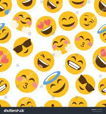 halloween background emoji emoji seamless pattern on white background stock vector 497158807