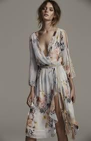 primrose split sleeve midi dress in posie primroses midi