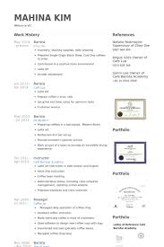 Resume For Work Experience Sample by Barista Resume Samples Visualcv Resume Samples Database