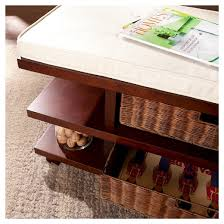 Entry Way Bench And Shelf Winston Entry Bench With Storage Espresso With Caramel And Ivory