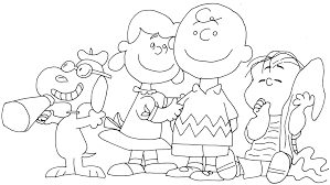 charlie brown and snoopy peanuts coloring page kids coloring