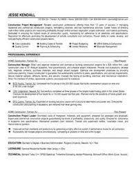 Construction Superintendent Resume Samples by Construction Superintendent Resume Can Be In Simple Design But It