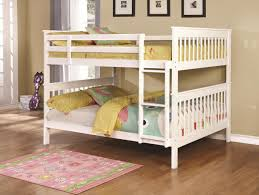 chapman 460360 full over full bunk bed in white by coaster
