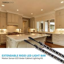 kitchen cabinet led lighting gunbox series 6pcs motion led extendable bar light 3000k warm white warm white