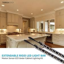 kitchen cabinet lighting images gunbox series 6pcs motion led extendable bar light 3000k warm white warm white