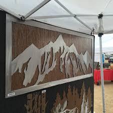 mountain wall wood mountain decor metal wall mountain wall mural western