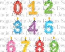 number birthday candles birthday candle svg etsy