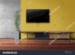 Led Tv Table 2015 Living Room Led Tv On Yellow Stock Photo 452602153 Shutterstock