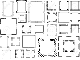 Art Deco Floor Plans Set Of Different Type Of Art Deco Frames Royalty Free Cliparts