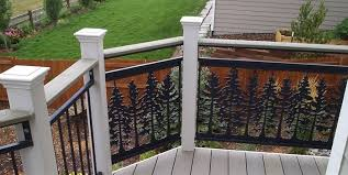 Deck Handrail Custom Ornamental Wrought Iron Deck Railings And Spiral Stairs