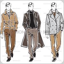 three men fashion vector stock