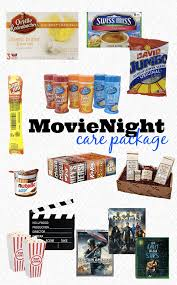 movie night care package ideas for your college student the love