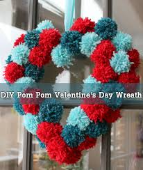 Homemade Pom Pom Decorations Diy Pom Pom Valentine U0027s Day Wreath The Perfect Diy