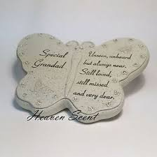 memorial for special grandad butterfly shaped grave ornament