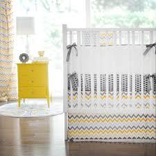 Chevron Boy Crib Bedding Gray And Yellow Chevron Baby Bedding All Modern Home Designs