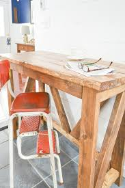 Wooden Breakfast Bar Stool Inexpensive Diy Breakfast Bar I Am A Homemaker