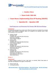 Route Map Cisco by 2016 New 300 101 Exam Dumps For Free Vce And Pdf 81 100 By
