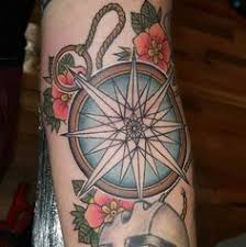 olio tattoo compass feather daughter tattoo by justun from in the
