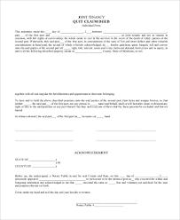 quitclaim deed sample form 6 free documents in word pdf