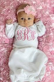 engravable baby gifts newborn baby girl take home monogram baby girl layette