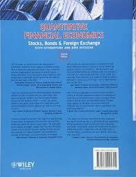 quantitative financial economics stocks bonds and foreign