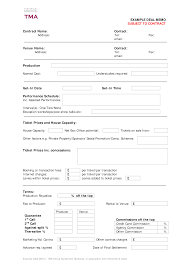 Commission Tracking Spreadsheet Contract Deal Memo Template Download This Contract Deal Memo