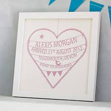 Personalization Baby Gifts Personalised New Baby Heart Print By Modo Creative