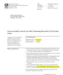 Certification Approval Letter Registered Tax Return Preparer Rtrp Professions Company