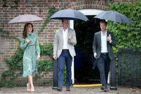 kate william and harry take poignant walk through kensington