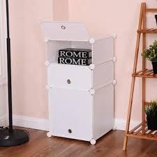 Cubic Bookcase Costway 6 Cubic Portable Shoe Rack Shelf Cabinet Storage Closet