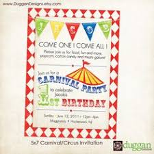 strong man carnival guest dessert feature party invitations