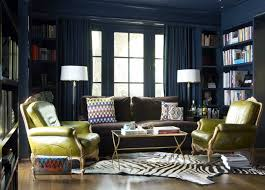 blue built in cabinets contemporary den library office jan