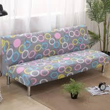 vieux canapé cercle pliage housse de canapé élastique housses canapé lit couvre