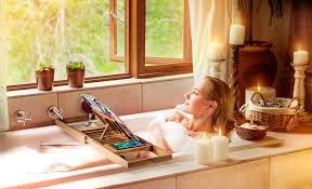 Bathtub Wine And Book Holder Bamboo Bathtub Caddy With Wine Glass Holder Tubethevote