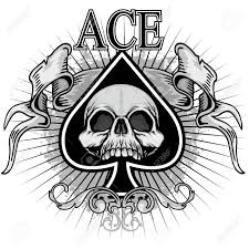 ace of spades with skull royalty free cliparts vectors and stock